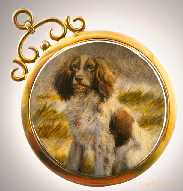 Click to see full size: Springer Spaniel Miniature Oil