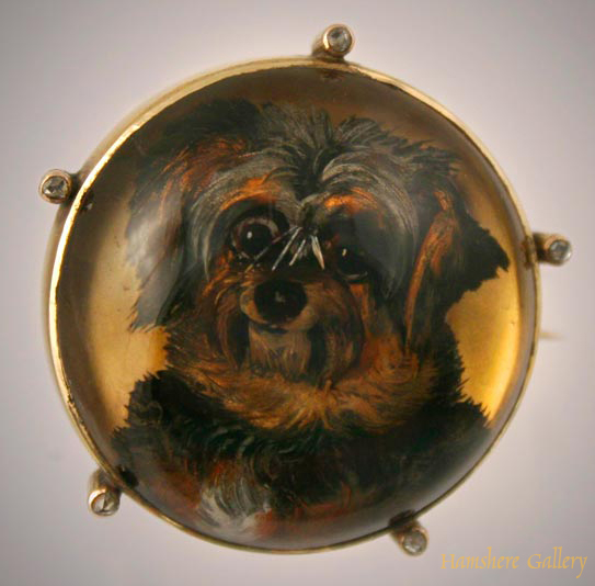 Click to see full size: Skye Terrier Brooch