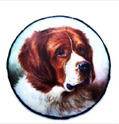 Click to see full size: St. Bernard Enamel Miniature by William Page Simpson