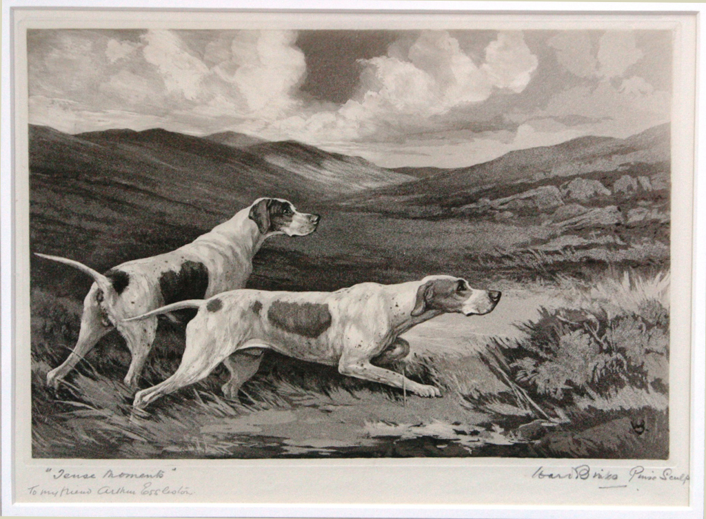 Click for larger image: Pointer etching by Ruben Ward Binks (English, 1880-1950)  - Pointer etching by Ruben Ward Binks (English, 1880-1950)