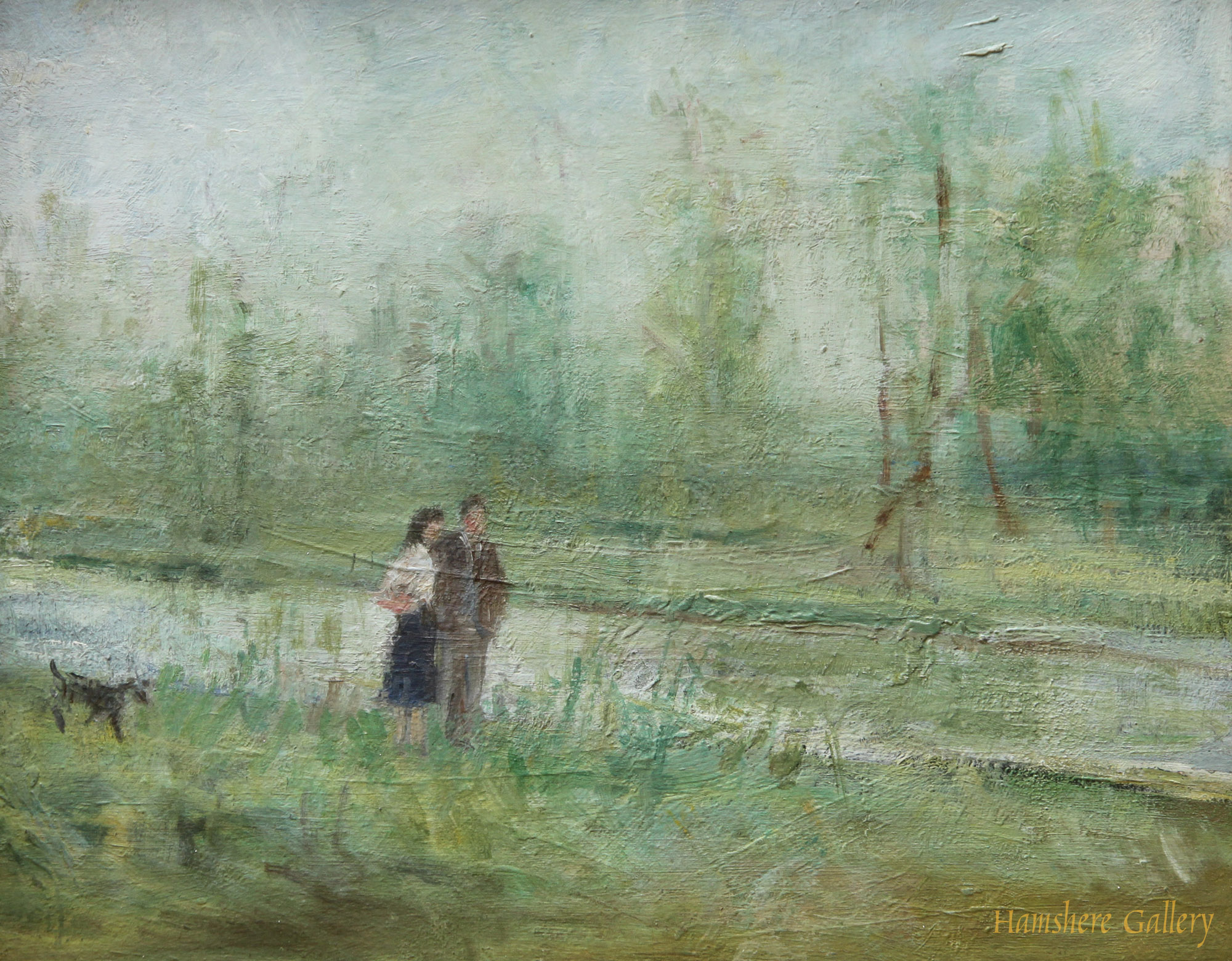 Click to see full size: A walk by the river by Elinor Bellingham-Smith