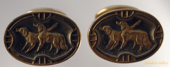 Click to see full size: Irish Setter cufflinks