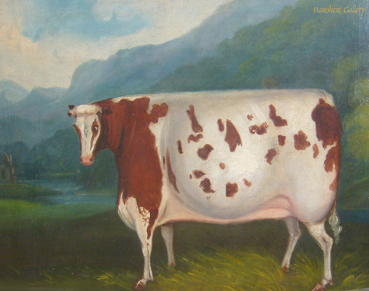 Click to see full size: Oil on canvas of an oxen