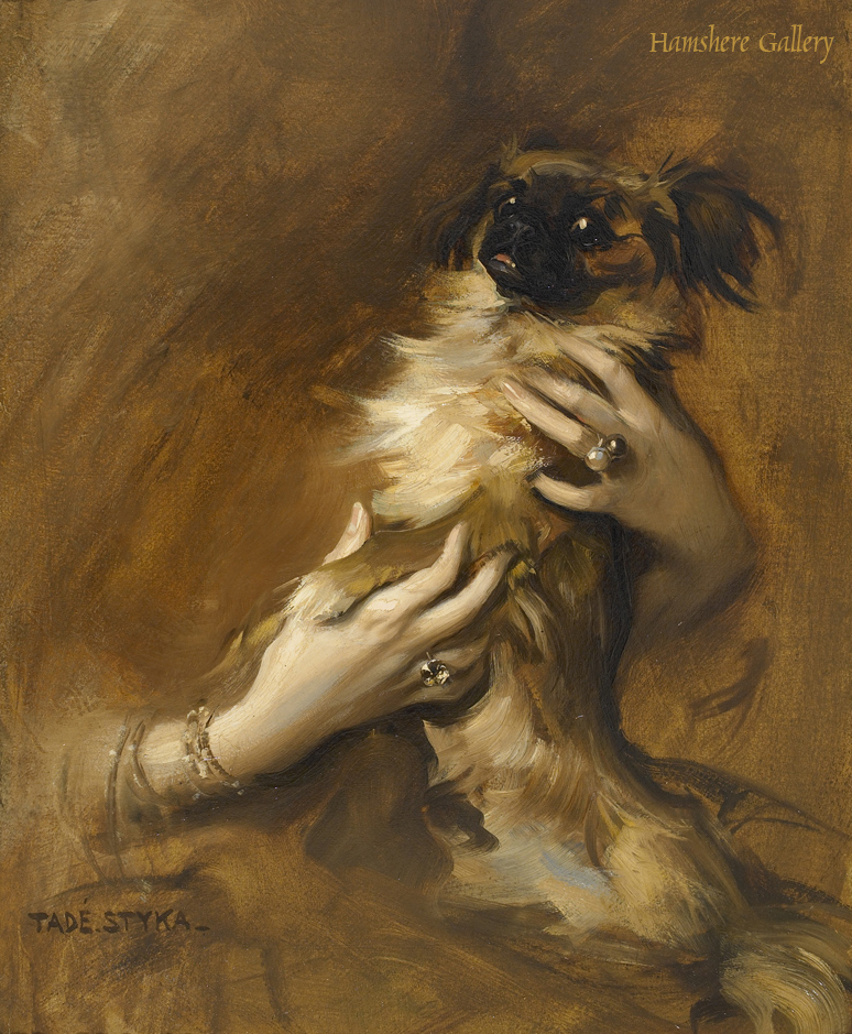 Click to see full size: Pekingese oil by Tadeusz Styka