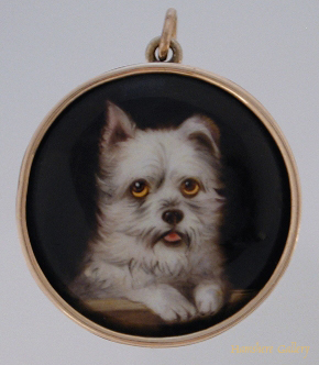 Click to see full size: West Highland Terrier Enamel by William Bishop Ford