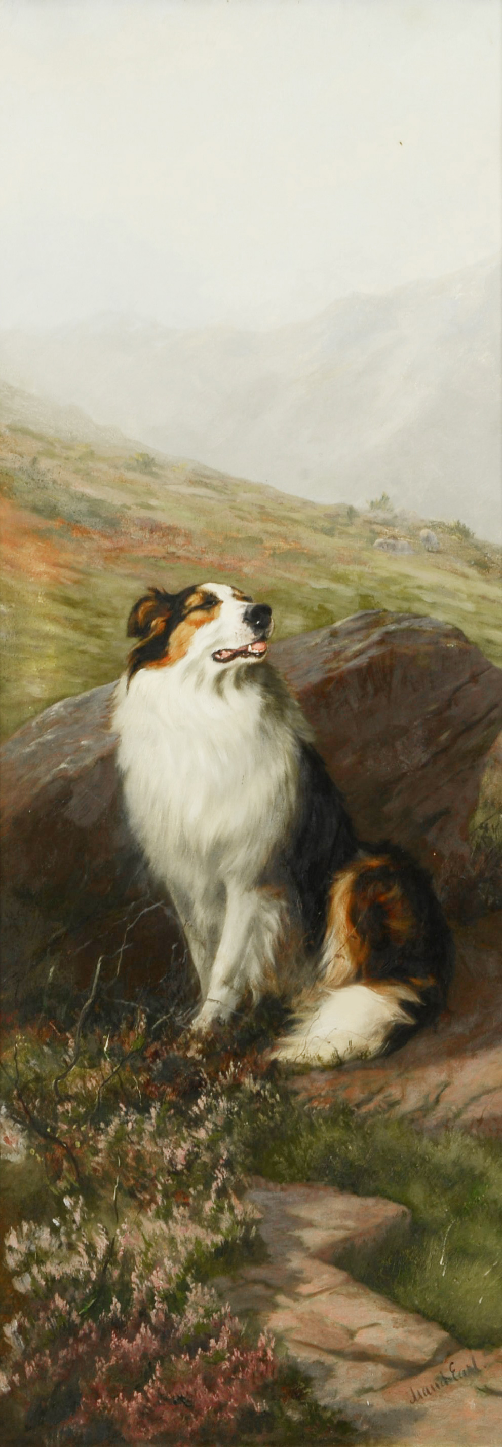 Click to see full size: Oil on canvas of a Rough Collie by Maud Earl