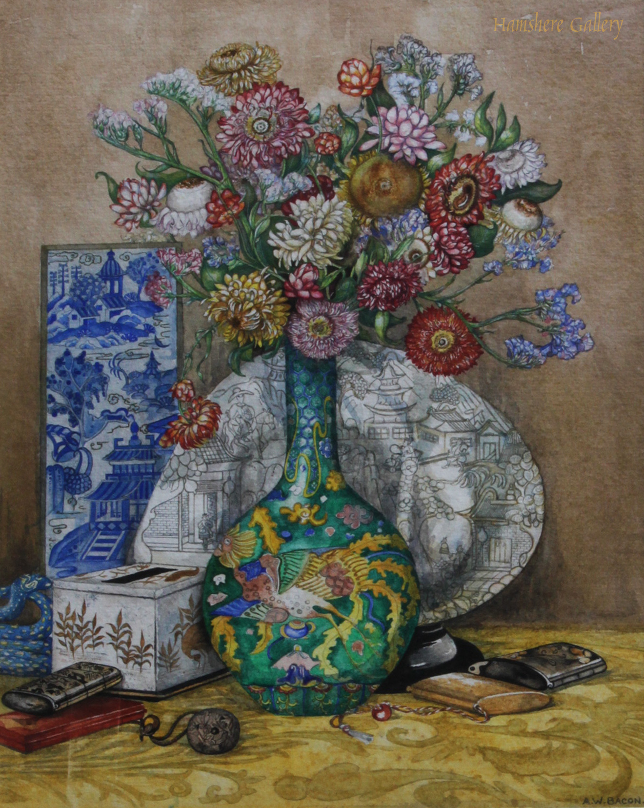 Click to see full size: A still life in watercolour by Miss Audrey W. Bacon