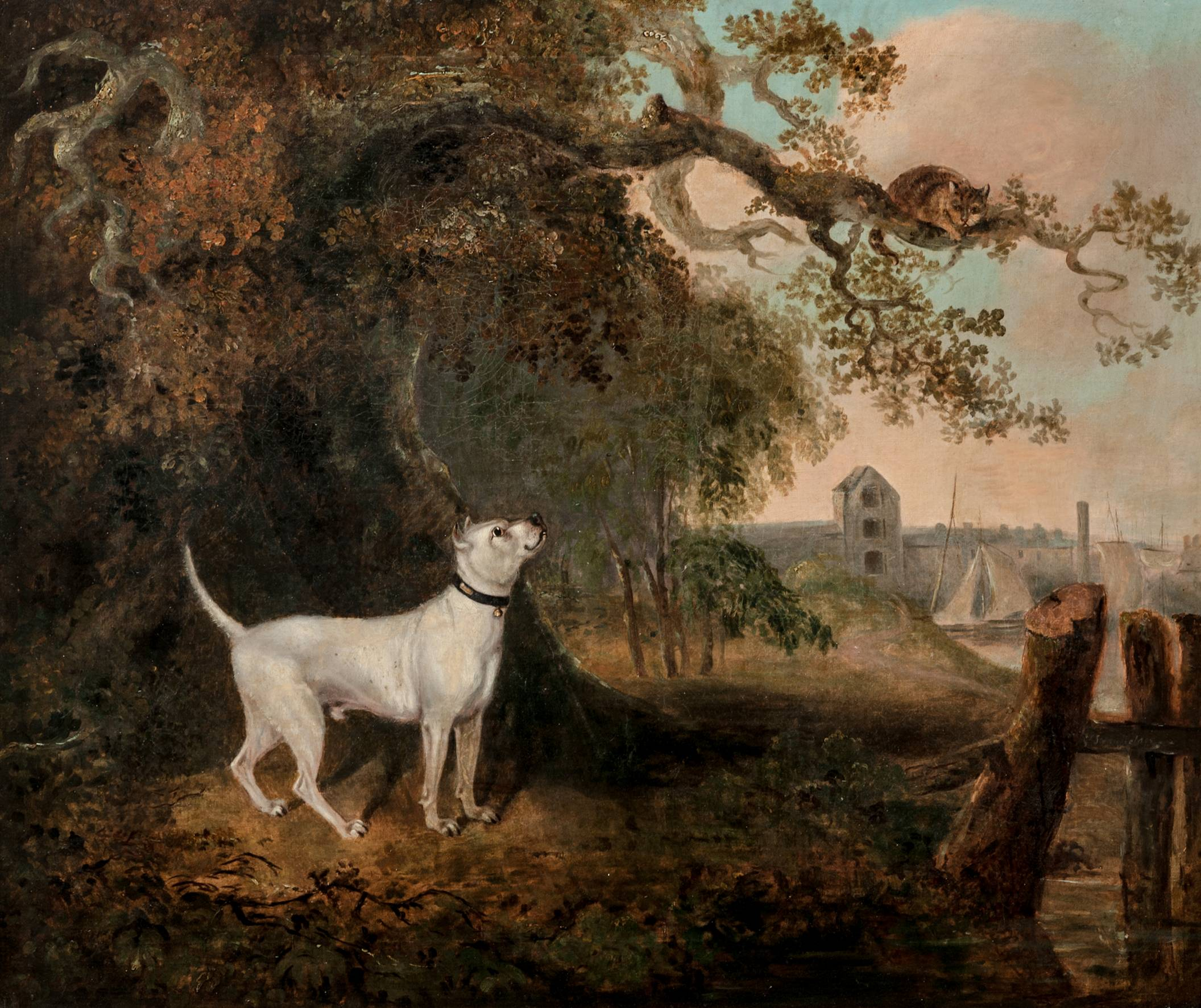 Click to see full size: A Staffordshire Bull Terrier by Charles Henry Schwanfelder
