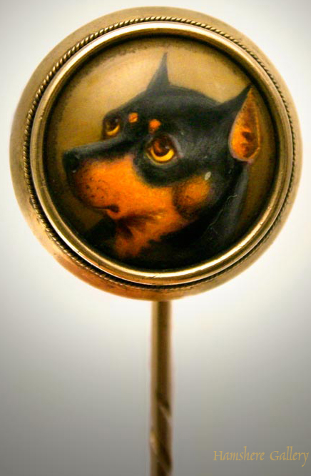Click to see full size: Manchester Terrier Stick Pin by William Bishop Ford