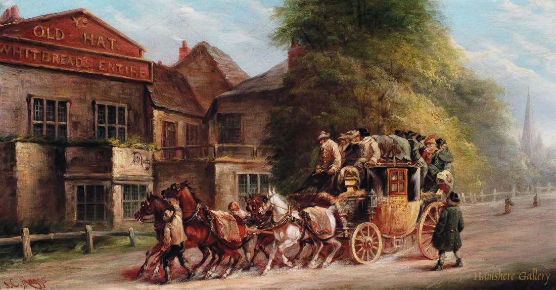 Click to see full size: Royal Mail coaching oil by John Charles Maggs (English, 1819�1896)