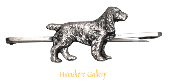 Click to see full size: An early 20th century silver Cocker Spaniel brooch
