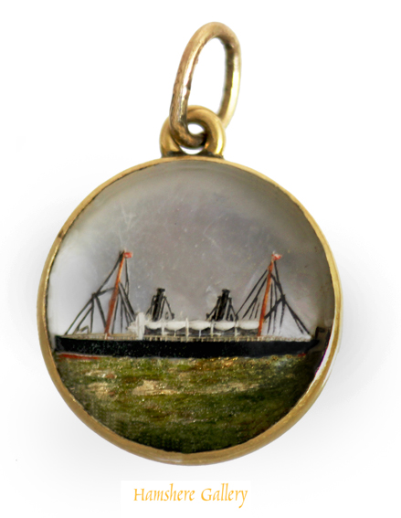 Click to see full size: A reverse intaglio crystal of the steam yacht ophelie (later named USS Xarifa)