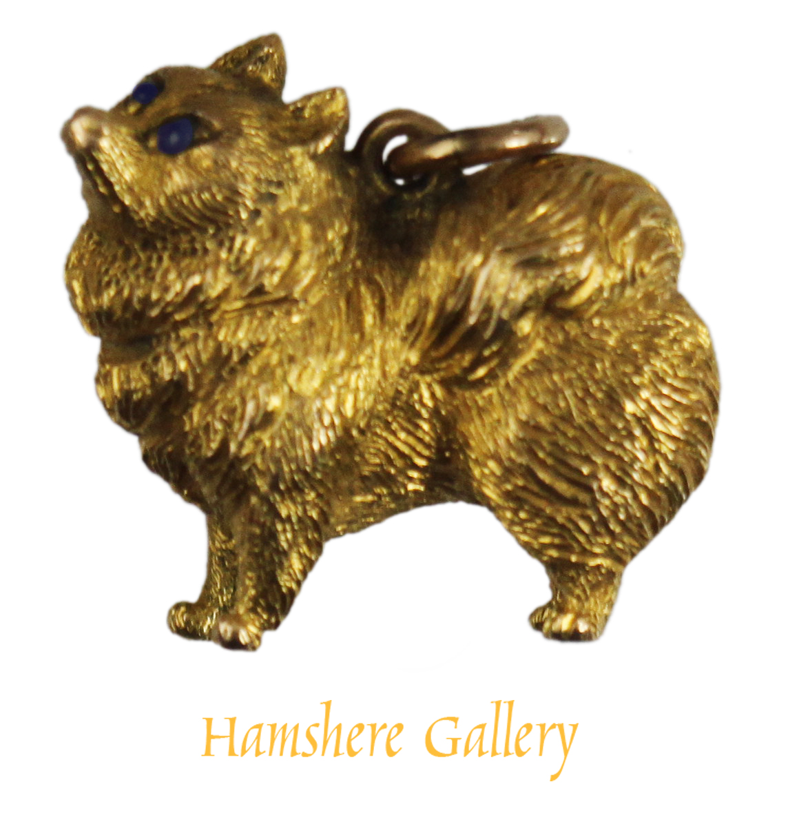 Click to see full size: Gold Spitz pendant