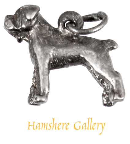 Click to see full size: A silver Boxer charm