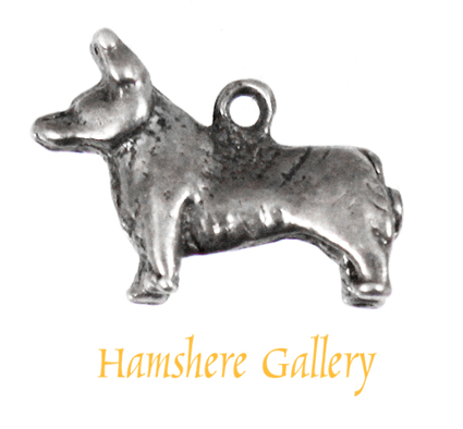 Click to see full size: A silver Corgi charm charm