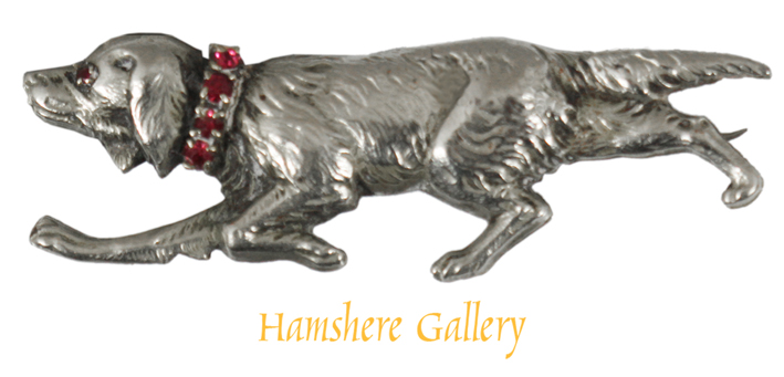 Click to see full size: A victorian silver setter brooch