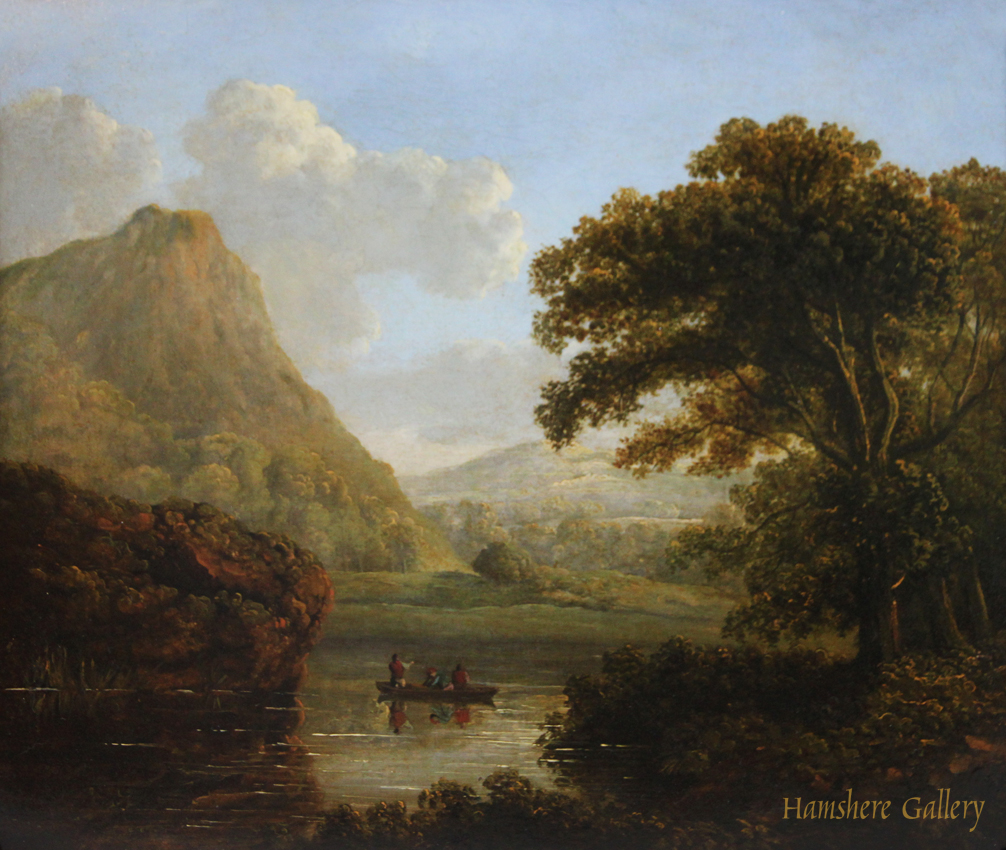Click to see full size: Early 19th century Irish landscape oil by James Arthur O�Connor (Irish, 1792-1841)
