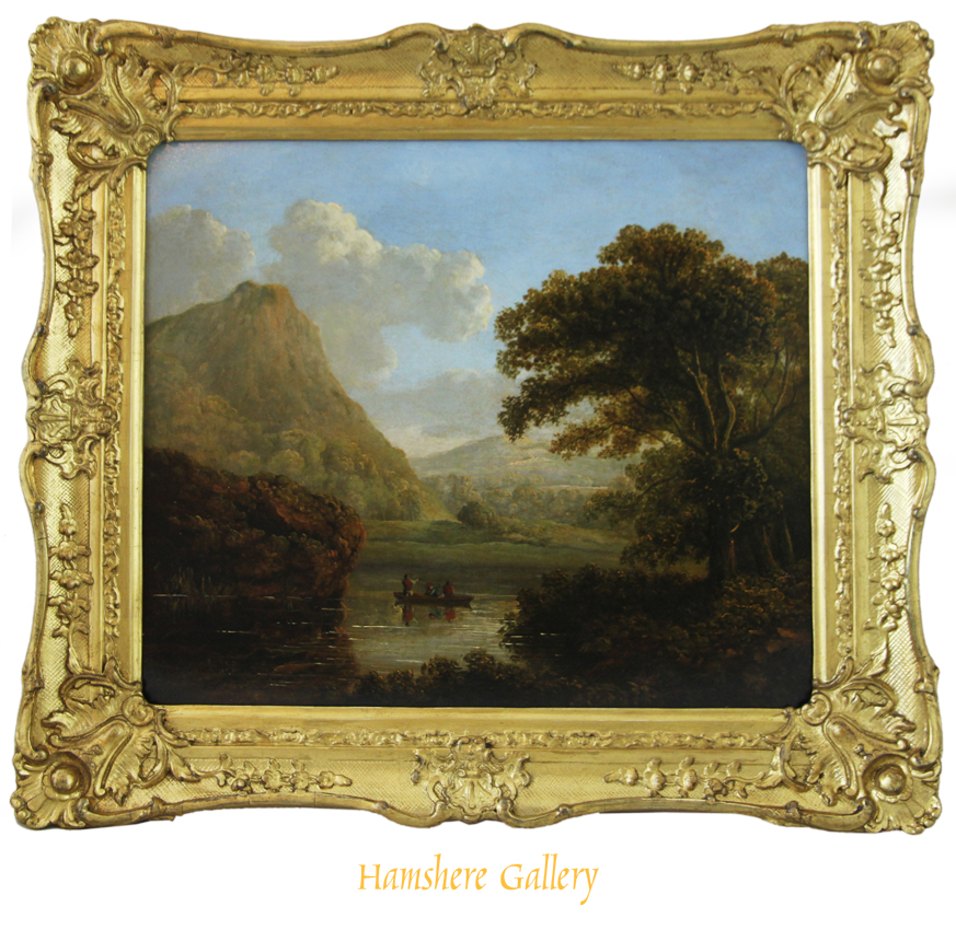 Click for larger image: Early 19th century Irish landscape oil by James Arthur O�Connor (Irish, 1792-1841) - Early 19th century Irish landscape oil by James Arthur O�Connor (Irish, 1792-1841)