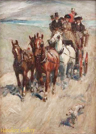 Click to see full size: A Coaching oil by Cecil Charles Windsore Aldin RBA