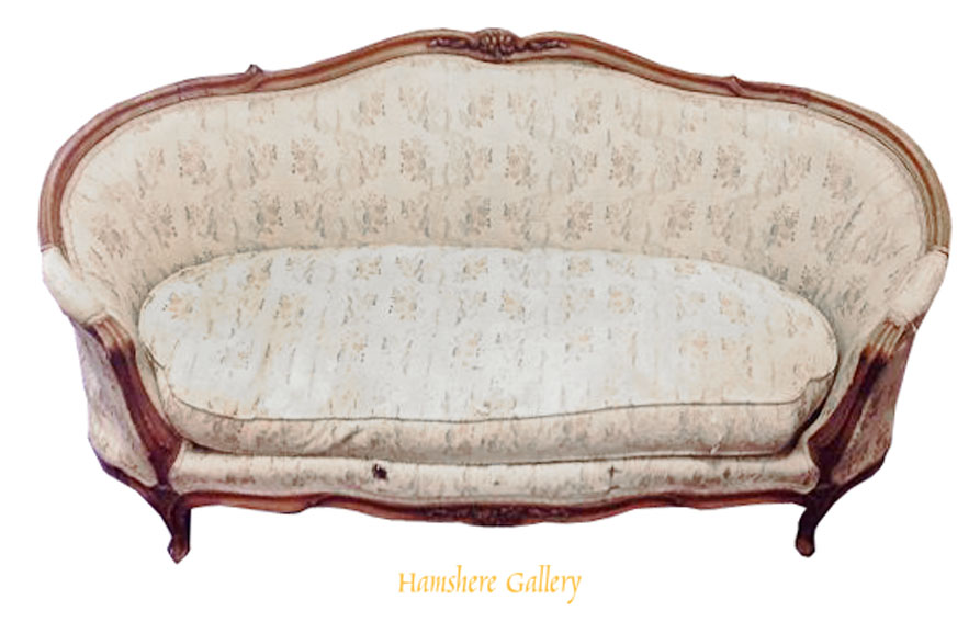 Click to see full size: A rare double dog bed in Louis VI style