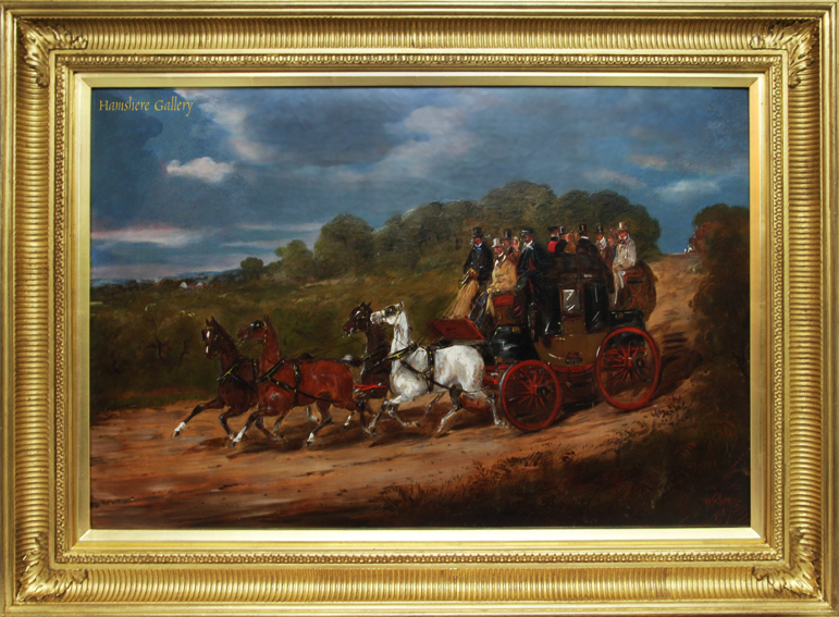 Click for larger image: Royal Mail coaching oil by H. F Jones (English, op, 1860�1870) - Royal Mail coaching oil by H. F Jones (English, op, 1860�1870)