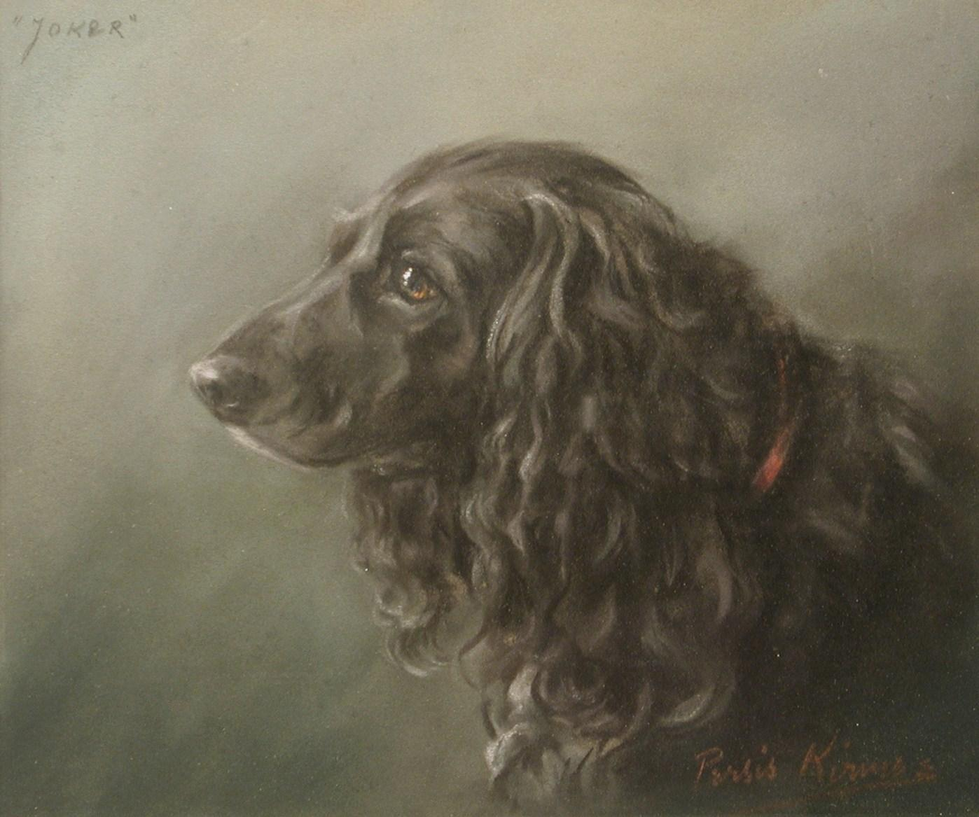 Click to see full size: Cocker Spaniel by Persis Kirmse- Pastel on paper of