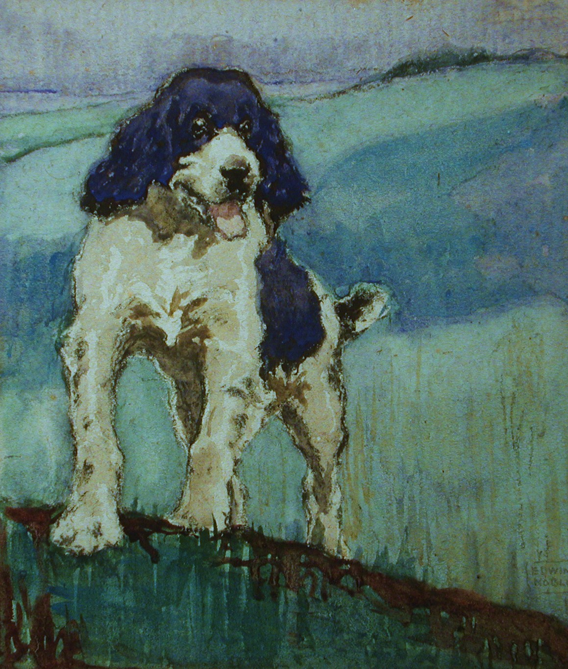 Click to see full size: Springer Spaniel by John Edwin Noble