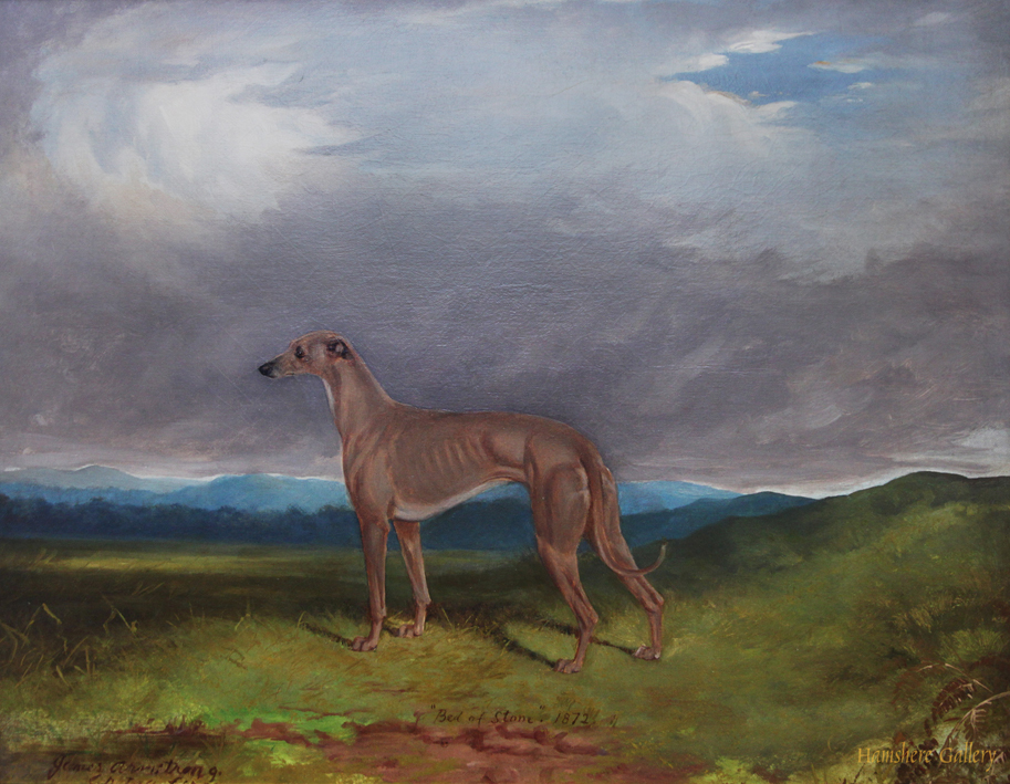 Click to see full size: Oil on canvas of the celebrated Greyhound