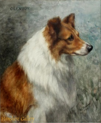 Click to see full size: Watercolour of the Rough Collie �Glenboy� by Frances Fairman (English, 1836-1923)