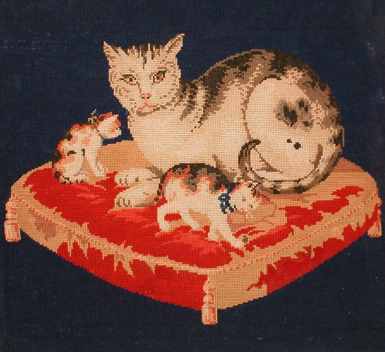 Click to see full size: Cat tapestry