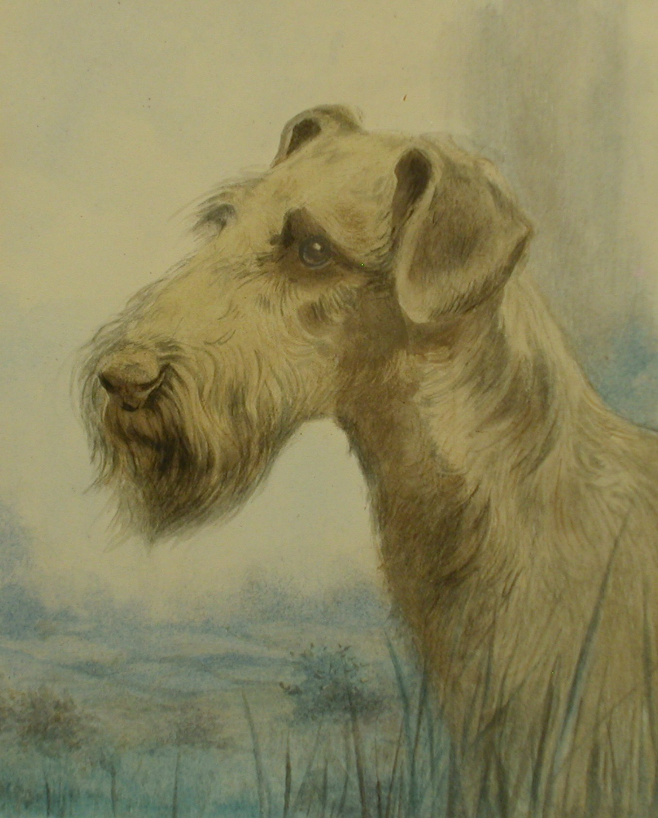 Click to see full size: Irish Terrier Manner of Reuben Ward Binks