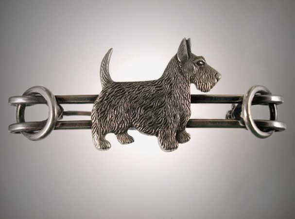 Click to see full size: Scottish Terrier Broach