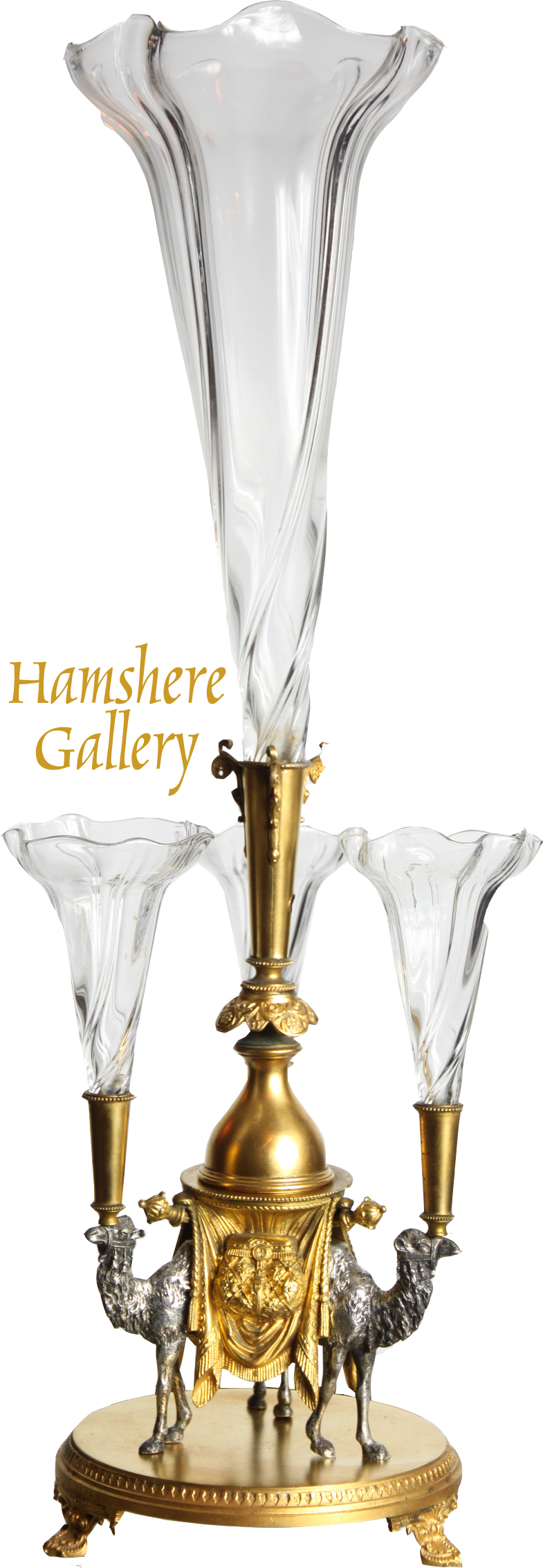 Click to see full size: Camel epergne by Henry Wilkinson and Company