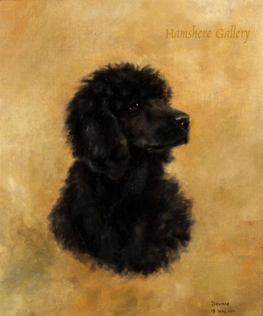 Click to see full size: Oil on canvas of the Poodle,