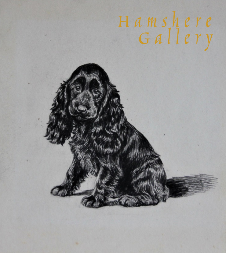 "Click to see full size: ""Bonny's Boy"" Cocker Spaniel drawing by Marguerite Kirmse - ""Bonny's Boy"" Cocker Spaniel drawing by Marguerite Kirmse"