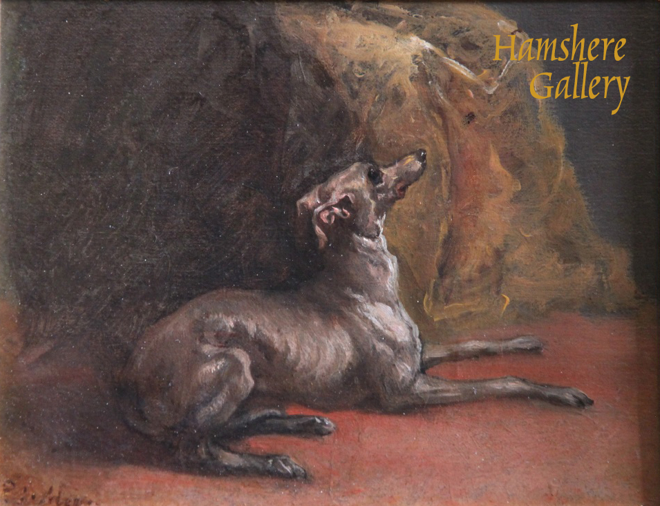 Click to see full size: Italian Greyhound oil by Pierre Jules Mene- Italian Greyhound oil by Pierre Jules Mene