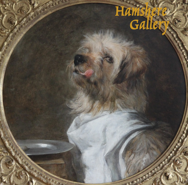 "Click to see full size: ""Grace before meat"" Norfolk Terrier oil by Ernest Crofts R.A."