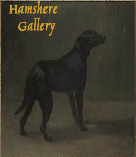 Click to see full size: An oil on canvas of a Labrador Retriever by Maud Earl