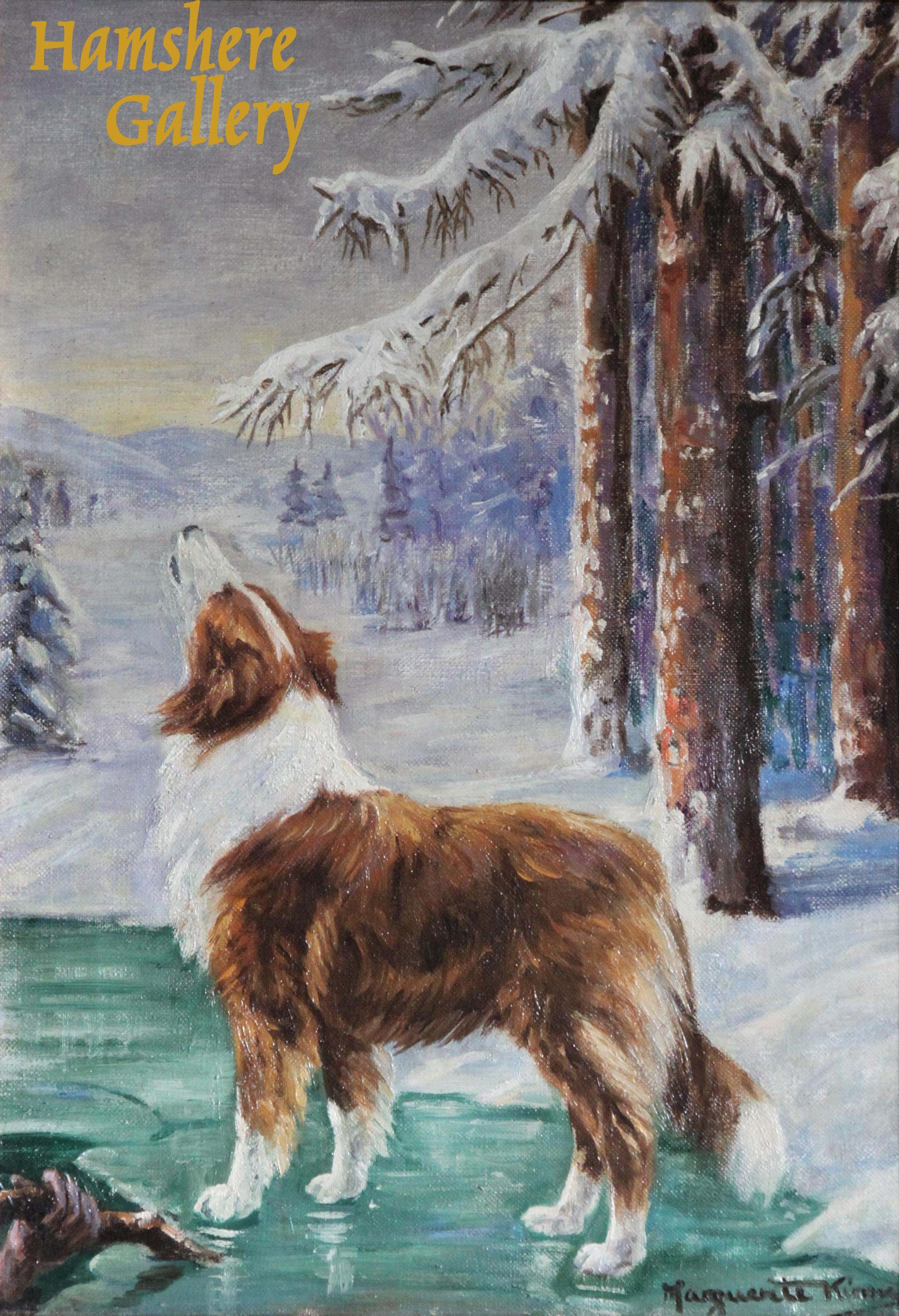 "Click to see full size: The Rough Collie ""Lad"", oil for Albert Payson Terhune (American, 1872-1942) by Marguerite Kirmse"