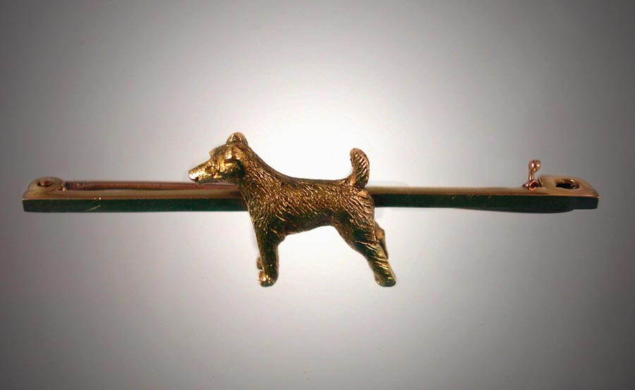 Click to see full size: Early 20th century bronze French Bull Dog door knocker