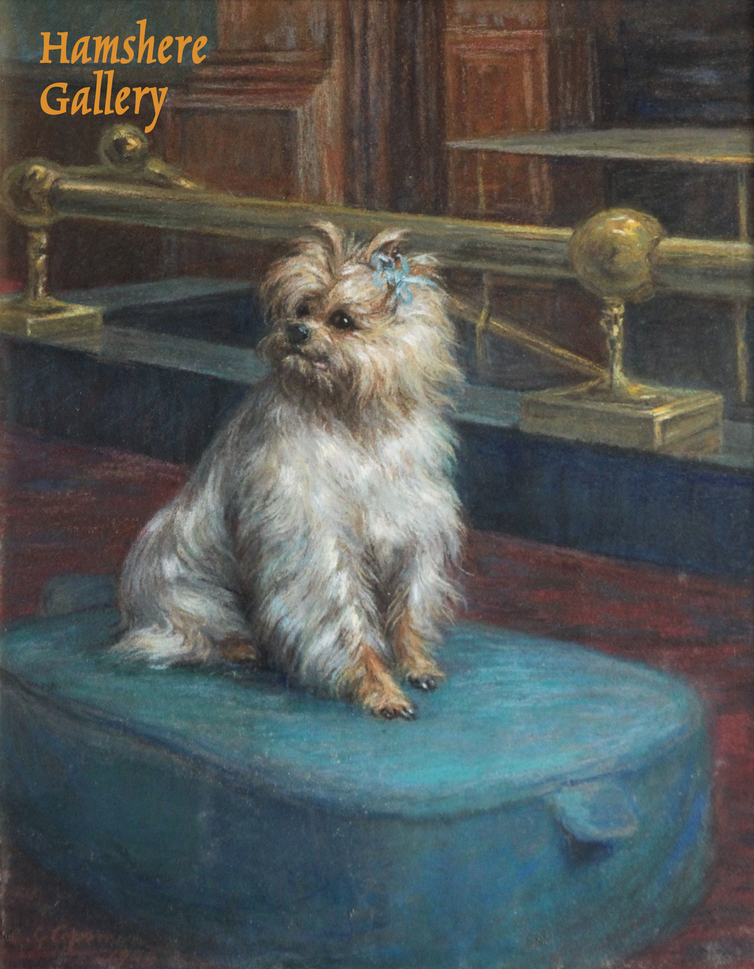 Click to see full size: Yorkshire Terrier pastel by Constance Gertrude Copeman (English, 1864–1953)