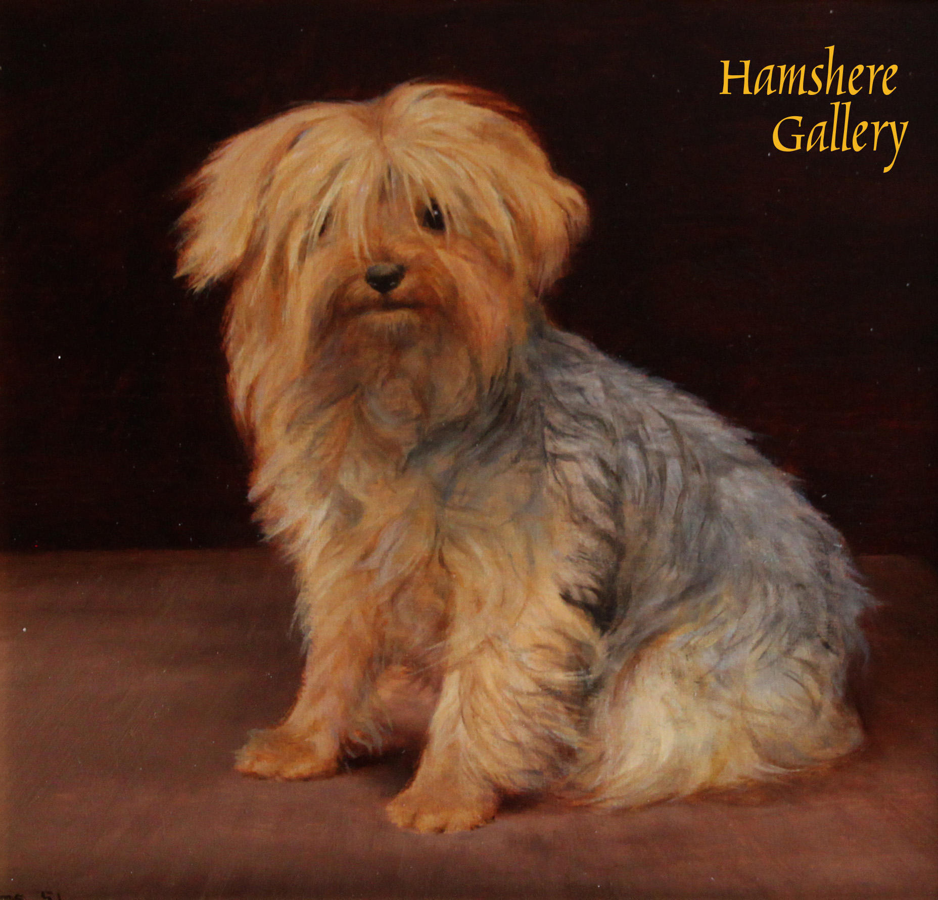 Click to see full size: Oil on panel of Yorkshire Terrier