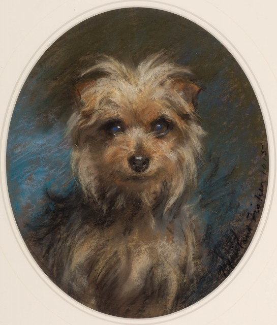 Click to see full size: Percy Harland Fisher British, 1867-1944 Terrier, 1915