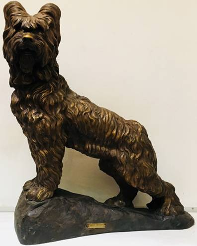 Click to see full size: Circa 1920 'L'isle Adam' terracotta Briard by Henry Pétrilly