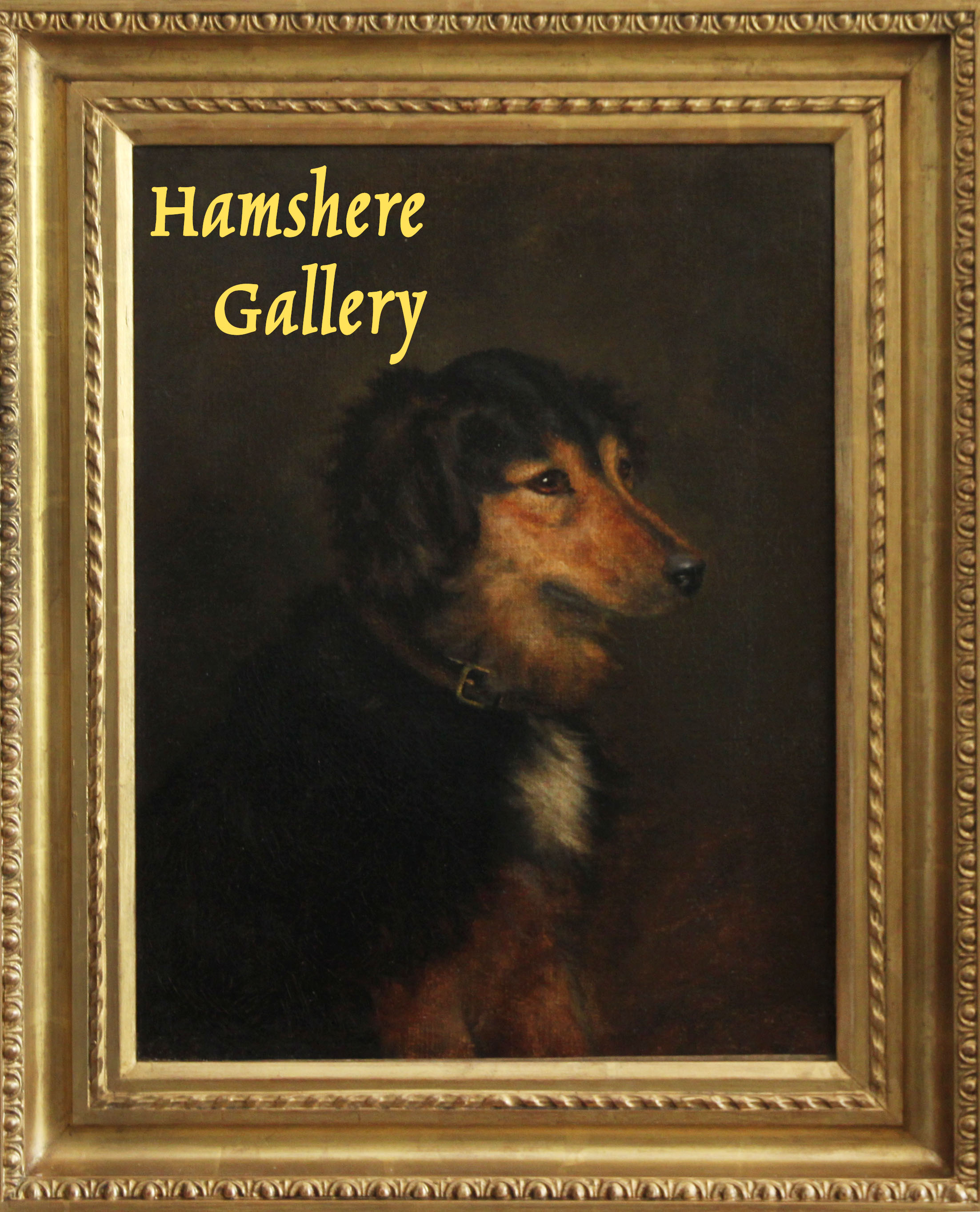 """Click to see full size: An oil of a Collie type favoured by Queen Victoria such as """"Noble"""" or """"Fern"""", attributable to Robert L Alexander, R.S.A, R.S.W. (Scottish, 1840 - 1923)- An oil of a Collie type favoured by Queen Victoria such as """"Noble"""" or """"Fern"""", attributable to Robert L Alexander, R.S.A, R.S.W. (Scottish, 1840 - 1923)"""
