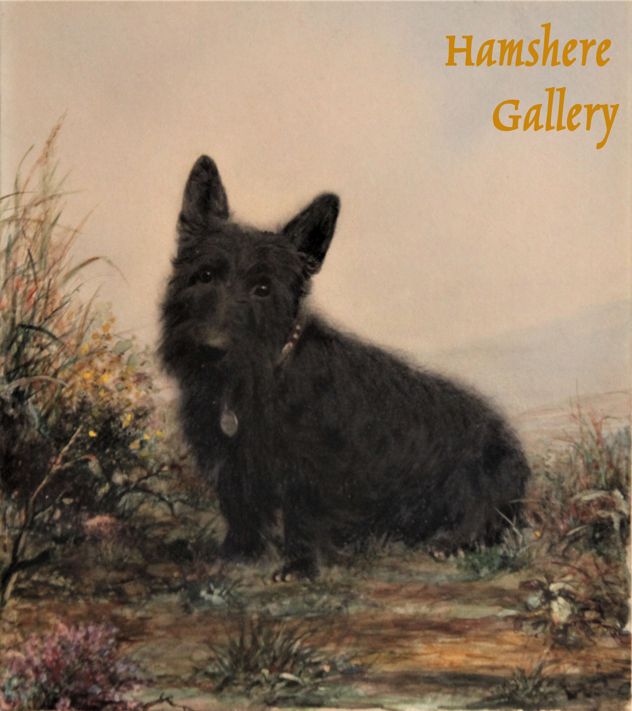 Click to see full size: Scottish Terrier watercolour by Marguerite Kirmse (English, 1885 -1954)- Scottish Terrier watercolour by Marguerite Kirmse (English, 1885 -1954)