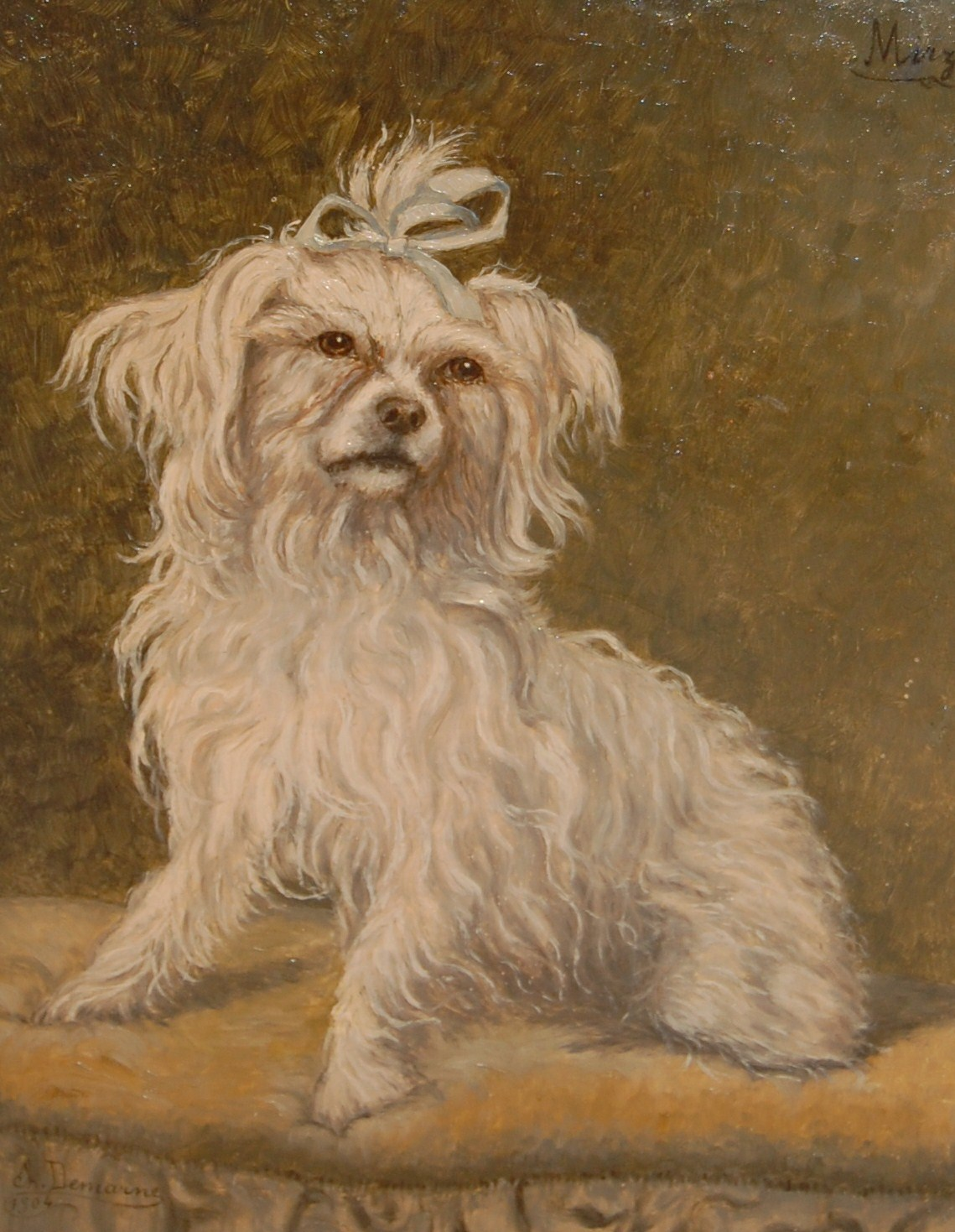 Click to see full size: Maltese Oil painting- Maltese Oil painting circa 1910 french